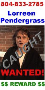 Fugitive Lorreen Pendergrass