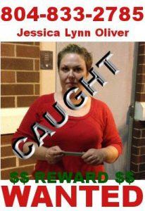 Jessica Oliver Apprehended