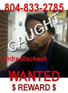 Andre Blackwell apprehended