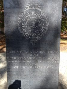 Chesterfield County Police Memorial