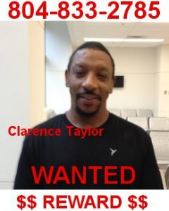 Wanted Clarence Taylor